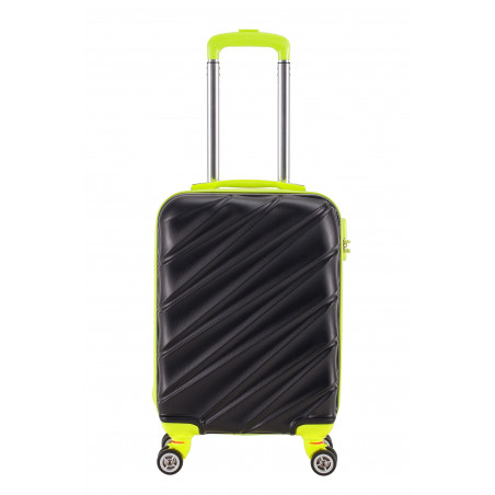 Decent Lumi-Fix Handgepäck Koffer 55cm Schwarz/Lemon