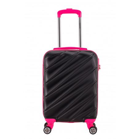 Decent Lumi-Fix Handgepäck Koffer 55cm Schwarz/Rosa