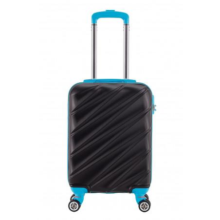 Decent Lumi-Fix Handgepäck Koffer 55cm Schwarz/Blau