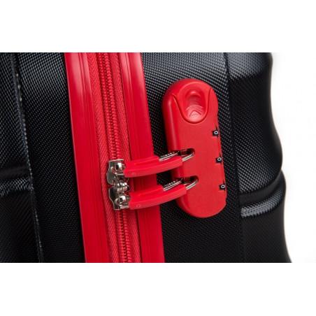 Decent Lumi-Fix Handgepäck Koffer 55cm Schwarz/Rot