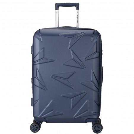 Decent Q-Luxx Koffer 67cm Expandable Dunkelblau