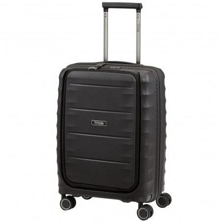 Titan Highlight Handgepäck Koffer Mit Vortasche 55cm Schwarz