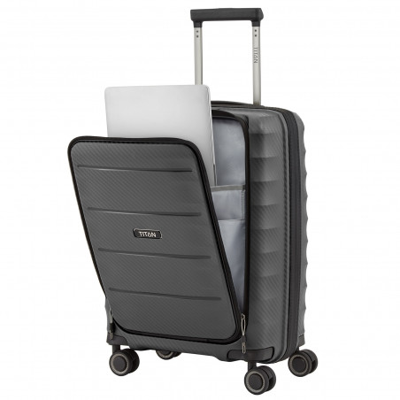 Titan Highlight Handgepäck Koffer Mit Vortasche 55cm Antrazit