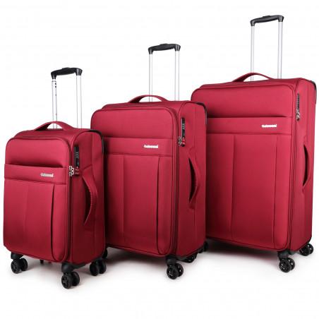 Decent D-Upright Kofferset Rot