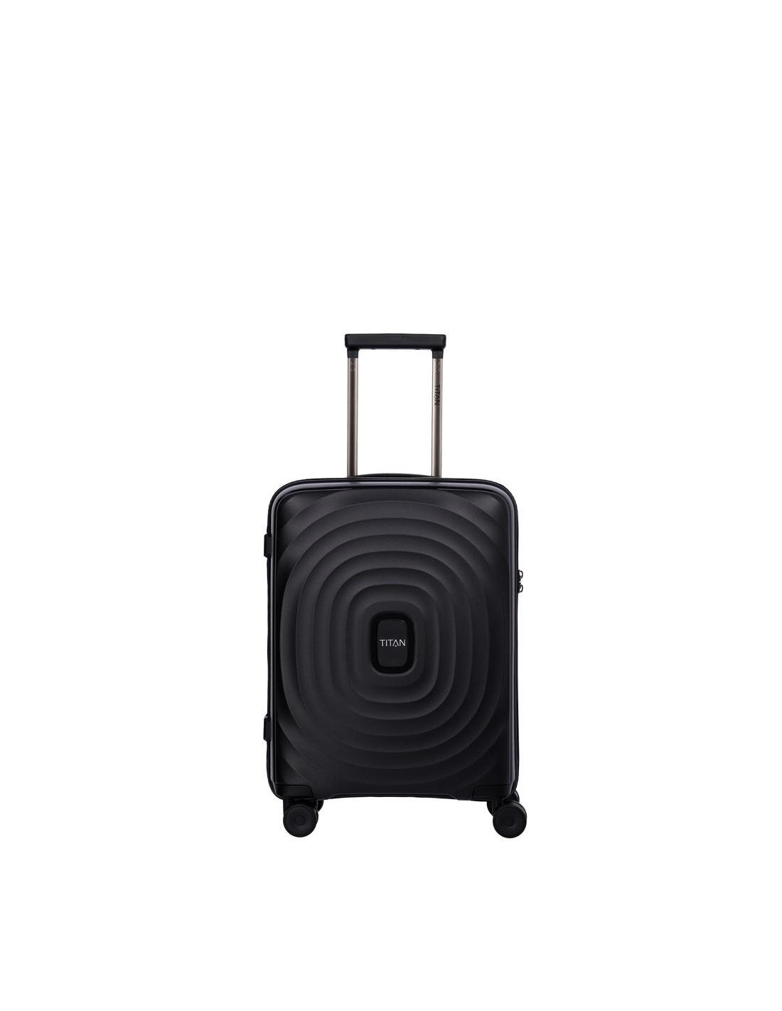 titan looping 4 rad handgep ck koffer 66cm schwarz online kaufen. Black Bedroom Furniture Sets. Home Design Ideas